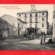Postais: OLESA DE MONTSERRAT. 4 PLAZA DE LA CONSTITUCIÓN. THOMAS. Lote 52902238
