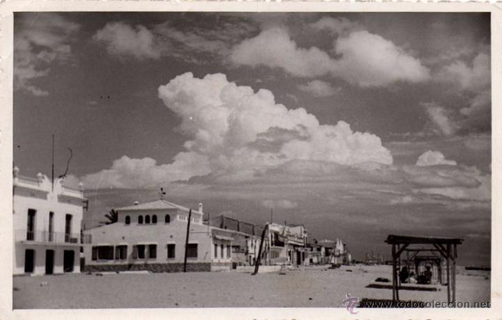POSTAL FOTOGRAFICA DE VENDRELL-PLAYA DE SAN SALVADOR (Postales - España - Cataluña Antigua (hasta 1939))