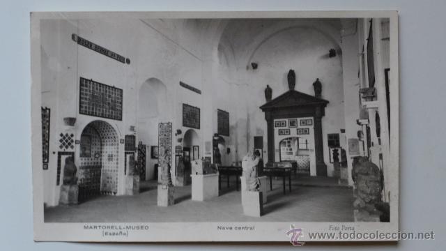 MARTORELL. MUSEO. MUSEU. NAVE CENTRAL. FOTO PORTA (Postales - España - Cataluña Moderna (desde 1940))