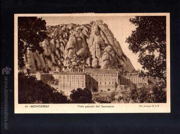 POSTAL DE MONTSERRAT. 1949. CIRCULADA (Postales - España - Cataluña Moderna (desde 1940))