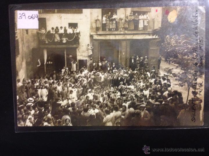 SALLENT - BALLADETES DE PLAÇA DE LA VERDURA - FESTA DEL BARRI 1915 - FOTOGRAFICA - (39064) (Postales - España - Cataluña Antigua (hasta 1939))