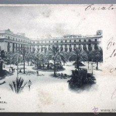 Postales: POSTAL DE BARCELONA, Nº 637: PLAZA REAL. FOT. HAUSER Y MENET, MADRID. Lote 53127706