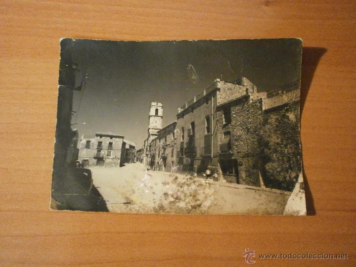 POSTAL ALMATRET PLAZA MAYOR ESCRITA (Postales - España - Cataluña Moderna (desde 1940))