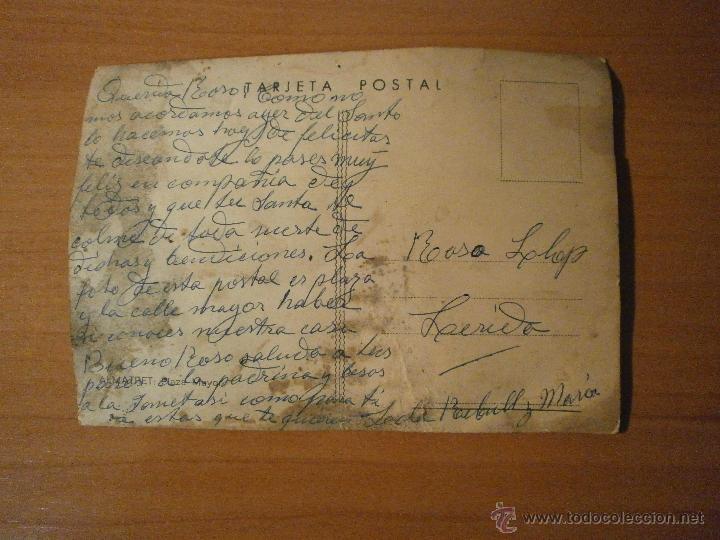 Postales: POSTAL ALMATRET PLAZA MAYOR ESCRITA - Foto 2 - 53145906