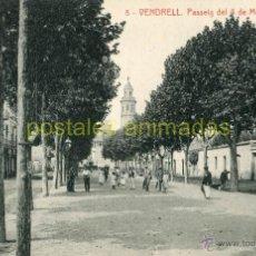Postales: VENDRELL - PASSEIG DEL 4 DE MARÇ - THOMAS Nº8 - ANIMADA. Lote 53179780
