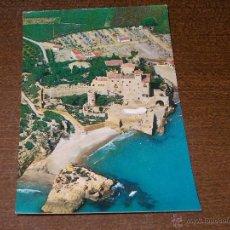 Postales: TARRAGONA CASTILLO DE TAMARIT VISTA AÉREA, SIN CIRCULAR, EDICIONES AEROPOST. Lote 107389092