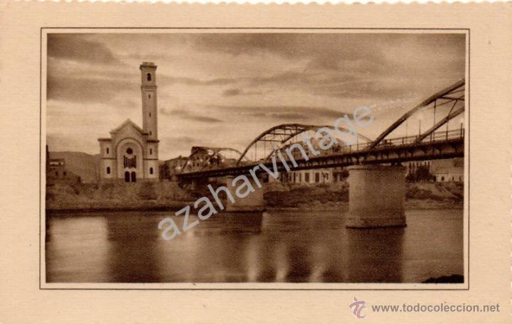 TORTOSA. PUENTE DE TRANSITO SOBRE EL RIO EBRO., EDC. GARCIA GARRABELLA (Postales - España - Cataluña Antigua (hasta 1939))