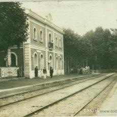 Postales: CALDETAS. ESTACION DEL FERROCARRIL. FOTO J. VILÁ. CIRCULADA EN 1909.. Lote 53232479
