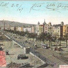 Postales: BARCELONA PASEO DE COLÓN 1909. Lote 27567571