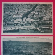 Cartes Postales: LOTE DE 2 POSTALES - BARCELONA EN AVION - FOTO: M. FLANDRIN.. R- 704. Lote 53315011