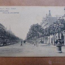 Postales: BARCELONA - CALLE DE LAS CORTES. Lote 53366207