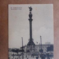 Postales: BARCELONA - MONUMENTO A COLON. Lote 53366218