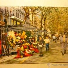 Postales: POSTAL BARCELONA.-RAMBLA FLORES--CIRCULADA BB. Lote 53401755