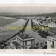 Postales: PALAMOS - PLATJA I PASSEIG - ROISIN Nº21 - HOTEL I BAR TRIAS. Lote 53401879