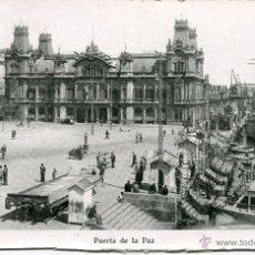 Postales: BARCELONA--PUERTA DE LA PAZ-GOLONDRINAS Y TREN-ANIMADA---MAURI. Lote 120930346