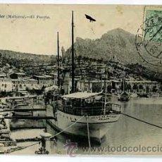Postales: MALLORCA SOLLER EL PUERTO. J. LACOSTE 107. CIRCULADA. Lote 53736462