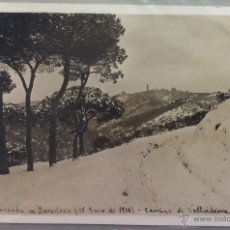 Postales: BARCELONA. GRAN NEVADA 15 ENERO 1914. CAMINO DE VALLVIDRERA. POSTAL FOTOGRÁFICA. . Lote 53759208