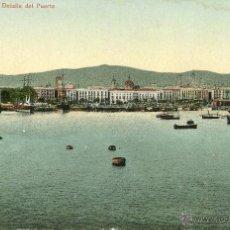Postales: BARCELONA-DETALLE DEL PUERTO-LEON 12-MUY RARA. Lote 53790405
