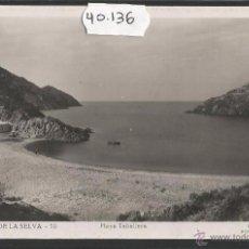 Postales: PORT DE LA SELVA - 18 - PLAYA TABALLERA - FOTOGRAFICA GUILERA - (40136). Lote 53866005