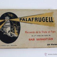 Postales: BP-55. LIBRITO DE POSTALES DE PALAFRUGELL. RECUERDO DE LA VISITA AL FARO. L. ROISIN. 17 POSTALES.. Lote 54055190