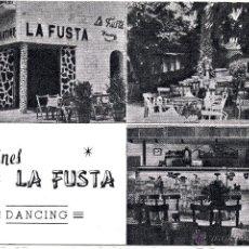 Postales: LLORET DE MAR. COSTA BRAVA. JARDINES LA FUSTA. DANCING.. Lote 54106104