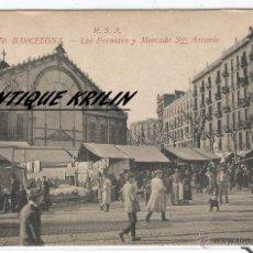 Postales: BARCELONA Nº 70 .- LOS ENCANTES Y MERCADO DE SAN ANTONIO .- EDICION ROVIRA S.A.. Lote 54146258