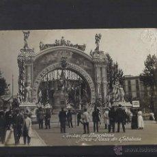 Postales: POSTAL FOTOGRÀFICA DE BARCELONA. FIESTAS DE BARCELONA. ARCO PLAZA DE CATALUNYA . Lote 54156573