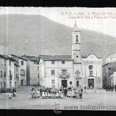 Postais: POSTAL * SANT FELIU DE PALLAROLS , CASA DE LA VILA ,PL,.PRADO * FASCIMIL DEL DIARI DE GIRONA. Lote 277046598