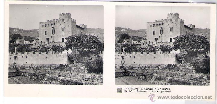 VILASSAR DE DALT - CROMO CASTILLOS DE ESPAÑA 1ª SERIE Nº 13 VISTA GENERAL (Postales - España - Cataluña Antigua (hasta 1939))