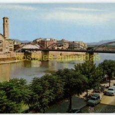 Postales: TORTOSA - EL EBRO A SU PASO POR LA CIUDAD 1968 - GARRABELLA Nº21 - SIATA 600 FORMICHETTA. Lote 54294055