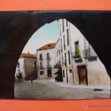 Postales: ANTIGUA POSTAL DE BELLPUIG- (LERIDA - LLEIDA) PLAZA SAN ROQUE (PARCIAL) . R- 1161. Lote 54383784