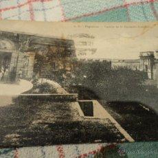 Postales: ANTIGUA POSTAL DEL CASTILLO DE SAN FERNANDO EN FIGUERES CIRCULADA AÑO 1921. Lote 54433983
