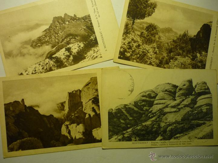 LOTE POSTALES MONTSERRAT .- 1 ESCRITA BB (Postales - España - Cataluña Antigua (hasta 1939))
