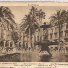 Postales: BARCELONA ESCRITA PLAZA MACIA. Lote 54558996
