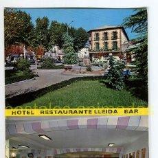 Postales: LLEIDA - PLAZA DE BARCELONA - HOTEL LLEIDA SALA DE FIESTAS 1968 - ED SICILIA - LERIDA. Lote 54704674