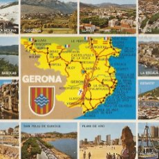 Postales: POSTAL, GERONA, VISTAS, CIRCULADA. Lote 54740350