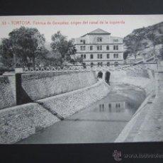 Postales: POSTAL TARRAGONA. TORTOSA. FÁBRICA DE GONZALEZ, ORIGEN DEL CANAL DE LA IZQUIERDA. . Lote 54745427