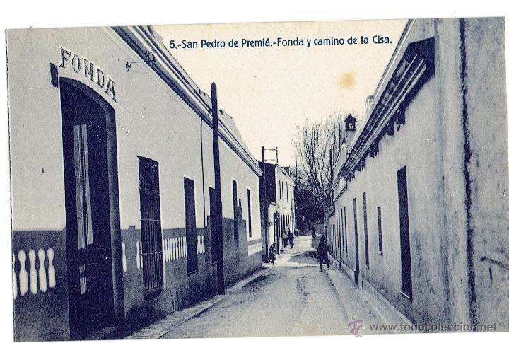 PS6356 SAN PEDRO DE PREMIÁ 'FONDA Y CAMINO DE LA CISA'. FERGUI. SIN CIRCULAR. PRINC. S. XX (Postales - España - Cataluña Antigua (hasta 1939))