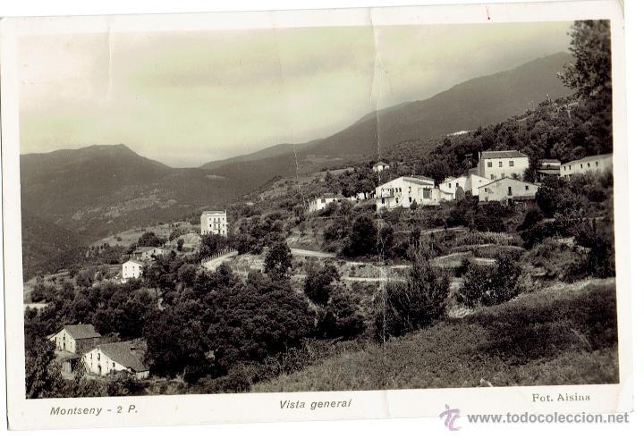 PS6049 MONTSENY 'VISTA GENERAL'. FOTO ALSINA. CIRCULADA. 1956 (Postales - España - Cataluña Moderna (desde 1940))