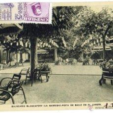 Postales: PS6053 BALNEARIO BLANCAFORT 'PISTA DE BAILE EN EL JARDÍN'. RIEUSSET. CIRCULADA. 1949. Lote 52342159