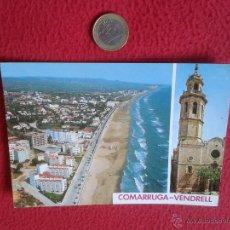 Postales: POSTAL POSTCARD TARRAGONA COSTA DORADA COMARRUGA VENDRELL PLAYA VER FOTO/S Y DESCRIPCION. Lote 54910488