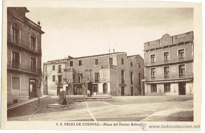 PS6429 S. FELIU DE CODINES 'PLAZA DEL DOCTOR ROBERT'. ED. CRISTÓBAL NAVARRO. SIN CIRCULAR. AÑOS 30 (Postales - España - Cataluña Antigua (hasta 1939))