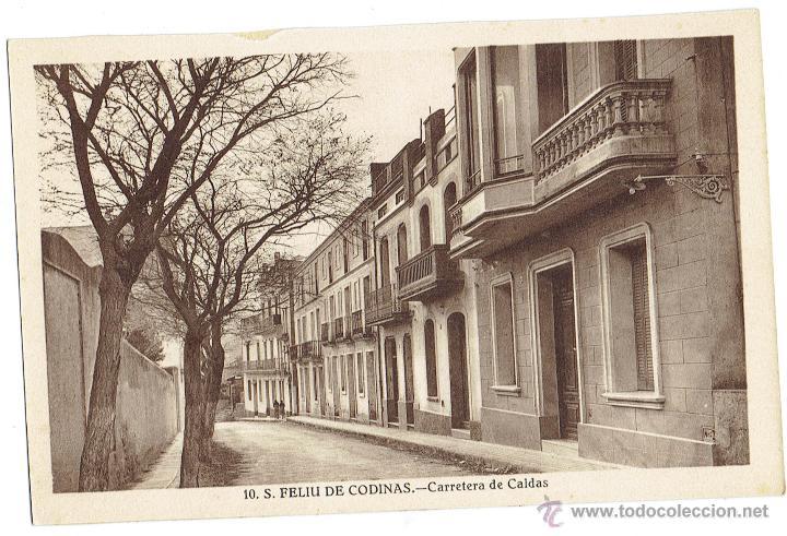 PS6433 S. FELIU DE CODINES 'CARRETERA DE CALDAS'. C. NAVARRO. SIN CIRCULAR. AÑOS 30 (Postales - España - Cataluña Antigua (hasta 1939))