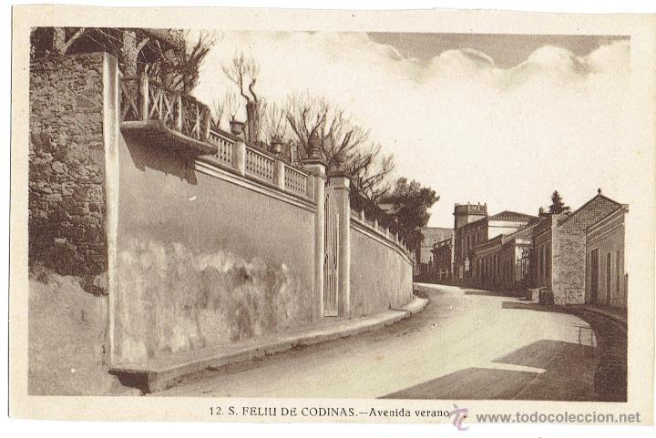 PS6434 S. FELIU DE CODINES 'AVENIDA VERANO'. C. NAVARRO. SIN CIRCULAR. AÑOS 30 (Postales - España - Cataluña Antigua (hasta 1939))