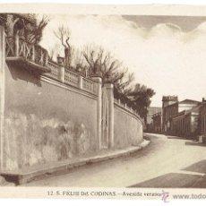 Postales: PS6434 S. FELIU DE CODINES 'AVENIDA VERANO'. C. NAVARRO. SIN CIRCULAR. AÑOS 30. Lote 54941571
