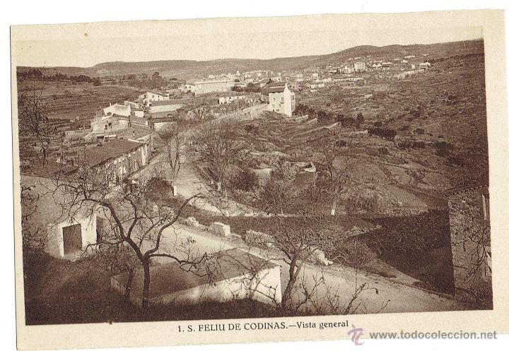 PS6436 S. FELIU DE CODINES 'VISTA GENERAL'. C. NAVARRO. SIN CIRCULAR. AÑOS 30 (Postales - España - Cataluña Antigua (hasta 1939))