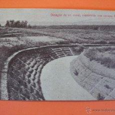 Postales: ANTIGUA POSTAL- DESAGUE DE UN CANAL, CONSTRUIDO CON CORAZAS- A. BIANCHINI INGENIEROS.. R-1716. Lote 35486725