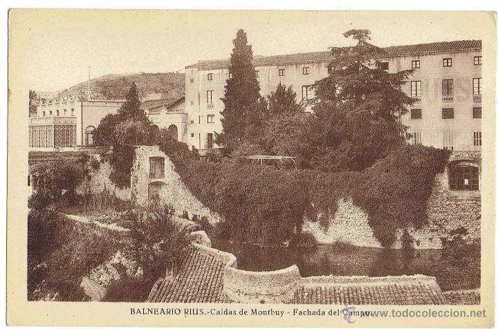 PS6476 CALDES DE MONTBUI 'BALNEARIO RIUS. FACHADA DEL CAMPO'. L. ROISÍN. SIN CIRCULAR. PRINC. S. XX (Postales - España - Cataluña Antigua (hasta 1939))