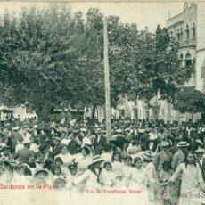 Postales: ROSAS. SARDANAS EN LA PLAZA. FOTO FONOLLERAS. CIRCULADA EN 1916.. Lote 54987902