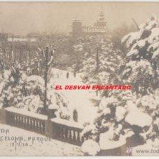 Postales: BARCELONA. NEVADA EN BARCELONA. PARQUE. 19/12/1920. POSTAL FOTOGRÁFICA. S/C. Lote 55003306